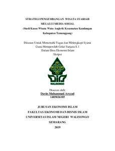 Strategi Pengembangan Wisata Syariah Melalui Media Sosial Studi Kasus Wisata Watu Angkrik Kecamatan Kandangan Kabupaten Temanggung Walisongo Repository