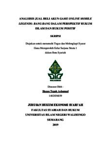 Skripsi Jual Beli Online Dalam Islam