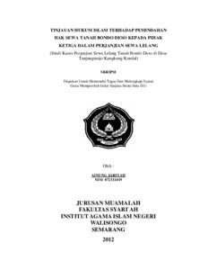 Kasus hukum perjanjian
