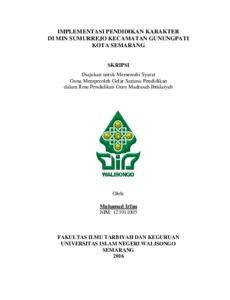 Implementasi Pendidikan Karakter Di Min Sumurrejo Kecamatan Gunungpati Kota Semarang Walisongo Repository