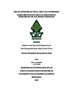 Desain Komunikasi Visual Dkv Dalam Promosi Radio Mbs 107 8 Fm Fakultas Dakwah Dan Komunikasi Uin Walisongo Semarang Walisongo Repository
