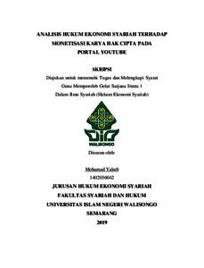 Skripsi Muamalah Hukum Ekonomi Islam